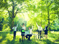 Group of Business People with Nature Royalty Free Stock Photo