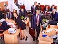 Group business people in office happy Royalty Free Stock Photo