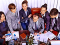 Group business people in office happy Royalty Free Stock Images