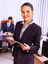 Group business people in office happy Stock Photo