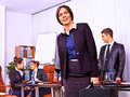 Group business people in office happy Royalty Free Stock Photos