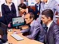 Group business people in office happy together Royalty Free Stock Photo