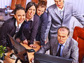 Group business people in office happy together Royalty Free Stock Photography