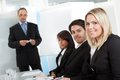 Group of business people at presentation Royalty Free Stock Photo