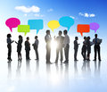 Group of business people sharing ideas Royalty Free Stock Photography
