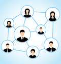 Group of business people, social relationship Royalty Free Stock Photo