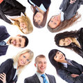 Group of business people standing in huddle Stock Images