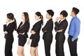 Group of business people standing and waiting in row Royalty Free Stock Photo