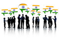 Group of business people talking and discussing about india Royalty Free Stock Photography
