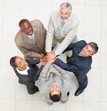 Group of business people with their hands joined Royalty Free Stock Images