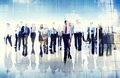 Group of business people walking forward Stock Photography