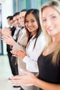 Group business team of cheerful applauding Royalty Free Stock Image
