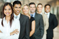 Group business team of standing in a row Stock Photo