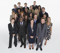 Group of businesspeople full length portrait multiethnic against white background Royalty Free Stock Image