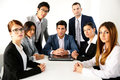 Group of businesspeople having meeting Royalty Free Stock Photo