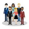 Group of bussiness people. Cartoon avatar.
