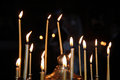 Group Of Candles Burning In Th...
