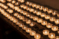 Group Of Candles In Church Royalty Free Stock Photo
