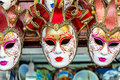 Group of carnival masks venice for selling Stock Images