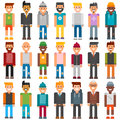Group cartoon characters people different professional manager person vector.