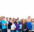 Group of casual modern people with copyspace Stock Photo