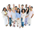 Group of Casual People Standing Smiling Royalty Free Stock Photo