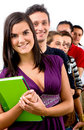 Group of casual students Stock Image