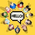 Group of cheerful children from around the world
