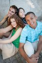Group of cheerful friends multi ethnic Royalty Free Stock Image