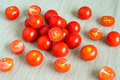 Group of cherry tomatoes Stock Photos