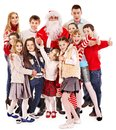 Group of children with Santa Claus. Royalty Free Stock Image
