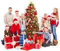 Group of children with Santa Claus. Stock Images