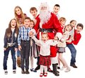 Group of children with Santa Claus. Royalty Free Stock Photos