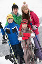 Group Of Children On Ski Holiday In Mountains Royalty Free Stock Image