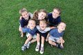Group of children smiling and happy Royalty Free Stock Photos