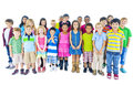 Group of Children Standing in Line Royalty Free Stock Photo