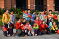 Group of chinese pupils Royalty Free Stock Photography