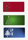 Group of Christmas Tags Royalty Free Stock Photos