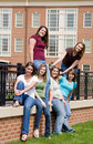 Group of College Girls Royalty Free Stock Photos