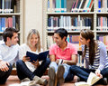 Group of college students Royalty Free Stock Image