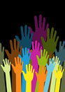 Group of color hands Royalty Free Stock Photography