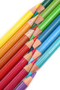 Group of color pencils Stock Images