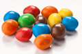 Group of colored chocolate balls Stock Image
