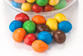 Group of colored chocolate balls Stock Photos