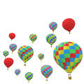 Group colorful balloon isolated on white background. Royalty Free Stock Photo