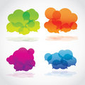 Group of colorful lava speech clouds Royalty Free Stock Images