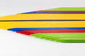 Group of colorful pick-up sticks place side by side Royalty Free Stock Photo