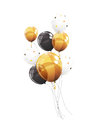 Group of Colour Glossy Helium Balloons Isolated on White Background. Vector Illustration