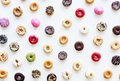 Group of Colourful Doughnut Bakery Sweet Dessert Royalty Free Stock Photo