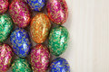 Group of colourful easter eggs Royalty Free Stock Photo